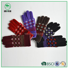 Wholesale cheap acrylic winter knitted gloves