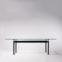 TL010 Hot sales Wholesale Modern Dining table Factory direct sales Le Corbusier LC6 Glass Dining Table