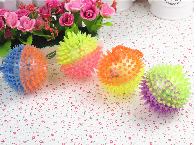 Flash Ball Double color Massage Toys ball For Kids Magic Toy Plus Rope Flash Stretch Balls