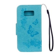 Quality Suppliers Flowers Butterfly Pattern Horizontal Flip Leather Case for samsung s8 /s8 plus