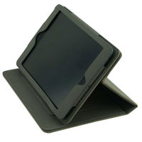 Grey leather case cover for ipad 4