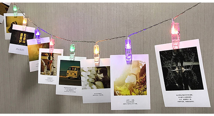 2018 Hot sale 10 led Decorative Card Photo String Lights Battery Decorative Light For Wedding