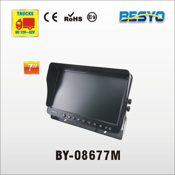 Truck and bus monitor rearview HD 7 inch TFT monitor BY-08677M