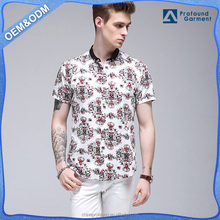 wholesale stock latest shirts designs fashion stylish short sleeve Casual Dress shirts slim fit cotton fabric new model summer