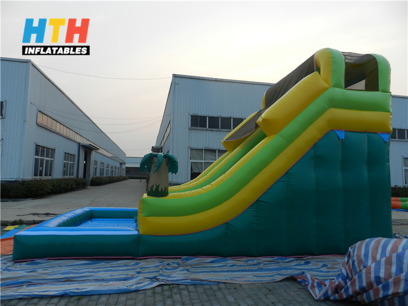 palm tree theme water slide inflatables for sale