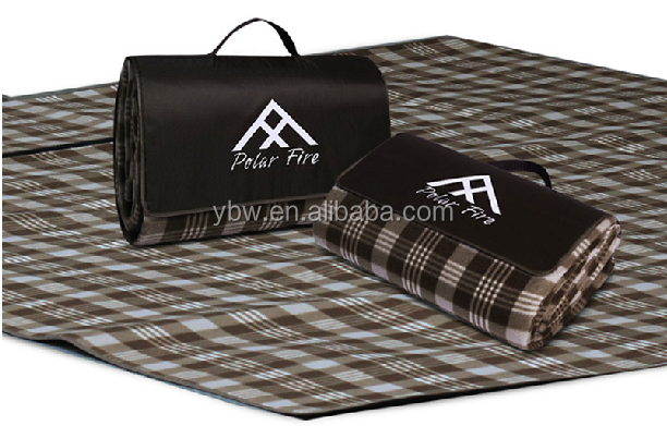 145*180cm Brown Plaid All-Purpose Blanket Yoga Mat, Picnic Blanket, Household Carpet