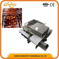 Low price automatic skewer machine/satay meat skewer machine/seekh kebab machine