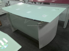 Dechuan glass office furniture front desk counter with best price