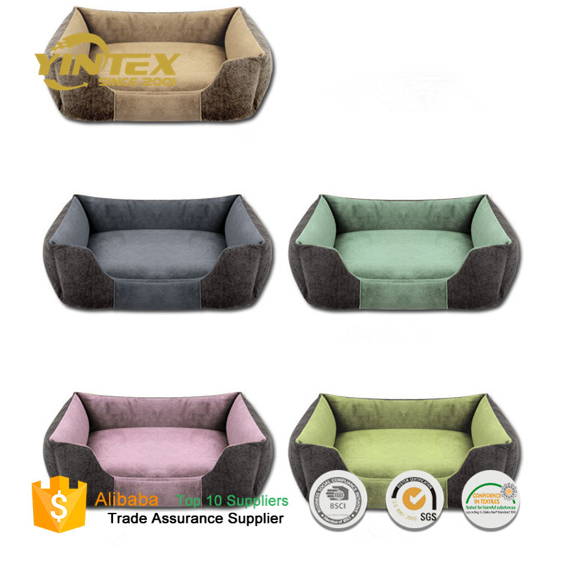 wholesale Luxury Memory Foam Waterproof Dog Pet Bed with Rewashable Cover
