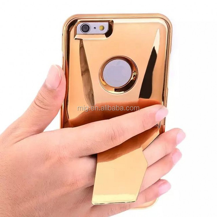 Metal foldable shockproof mobile phone case/ cell phone cover for iphone 6/ 6s with stand holder also used for iphone 6/ 6s plus