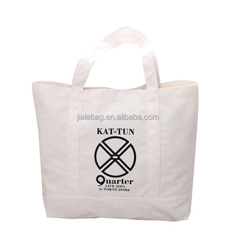 custom printed organic recycled standard size cotton canvas tote bag