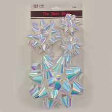 New Design Printed Paper Star Bow For Gift Decoration