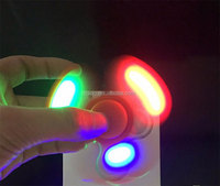 Factory price new arrival tri LED hand spinner promotional spinner fidget toys with multi colors led light