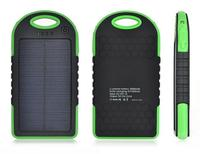 5000mah Waterproof Solar Power Bank Bateria Externa Solar Charger Powerbank for All Mobile Phone for Pad