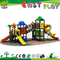 Fashion amusement park slide plastic outdoor playground equipment for kids