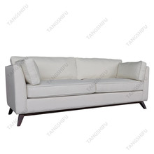 Italy rubber wood leg lounge white 2 seat chesterfield leather recliner sofa