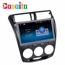 "Dasaita 10.2"" Touch screen size Android 7.1 car dvd audio radio stereo player for Honda City 2008-2012 GPS navigation"