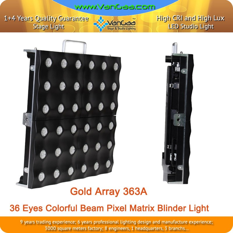 36 Eyes Entertainment DMX RGB LED Matrix Blinder Light/ LED Beam Blinder Light For Stage Background