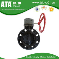 china factory pvc pipe fittings butterfly valve hand wheel wafer type