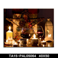 Christmas LED decorative painting oil on canvas