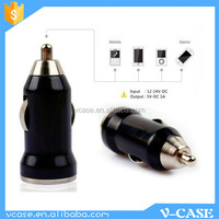 Fashionable mini car charger with on off switch usb car charger with line for ipad