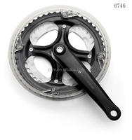 ISS246P6 bicycle crank & chainwheel steel 170mm/152mm and steel 38T/48T with chainguard