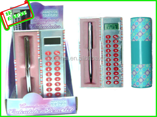 fashion mini plastic Calculator Pen