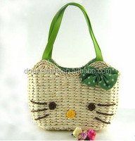 2014 best selling cute cheap four colours wholesale straw beach bags
