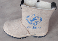 Winter Warm Children Wool Felt Boots