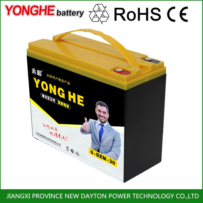deep cycle silicone gel battery 48v 100ah 1000w for electric vehicle