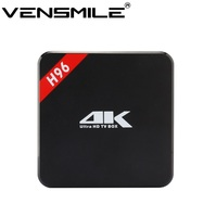 Vensmile Amlogic S905 Cheapest Android TV BOX H96 Kodi 16.0 bluetooth 4.0 quad core 1GB 8GB H96 tv box