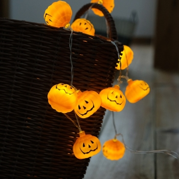 Top Sale Warm White Halloween Pumpkin String Lights