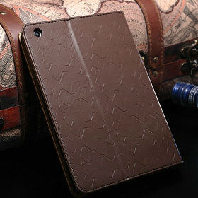 crystal stand genuine leather case for mini ipad