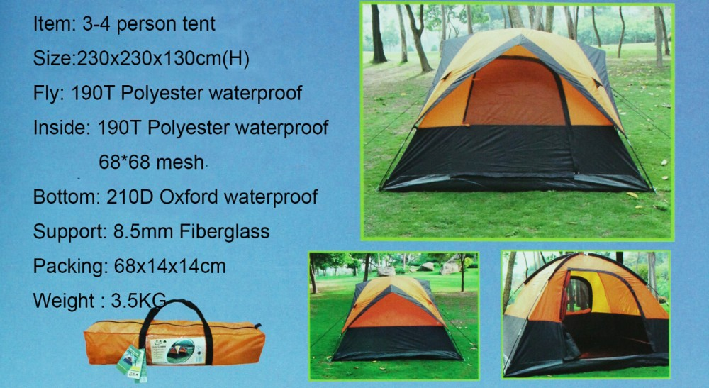 6 Person 2 Room Outdoor Camping Family Tent