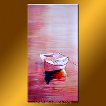 Wholesale handmade modern abstract sea and ship oil painting