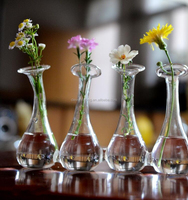 Hand blown clear small glass vase/tall glass cylinder vase suppliers