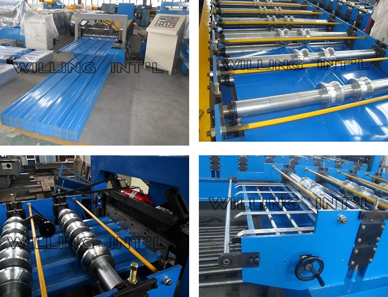 Popular Colored Steel Wall Roof Panel Cold Roll Forming Machine /Metal Roofing Galvanized Aluminum Steel Sheet