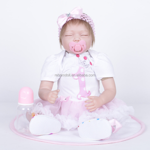 "Feelwind Factory Wholesale 22"" Mohair Alive Baby Reborn Newborn Sleeping Beauty Dolls Kid's Toys"