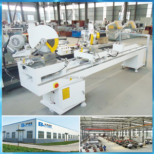 Automatic Double Head Mitre Cutting Saw / UPVC window making machine