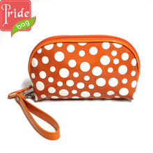 White Dots Cosmetic Bag Clutch Bag Wrist Bag Mobile Phone Pouch