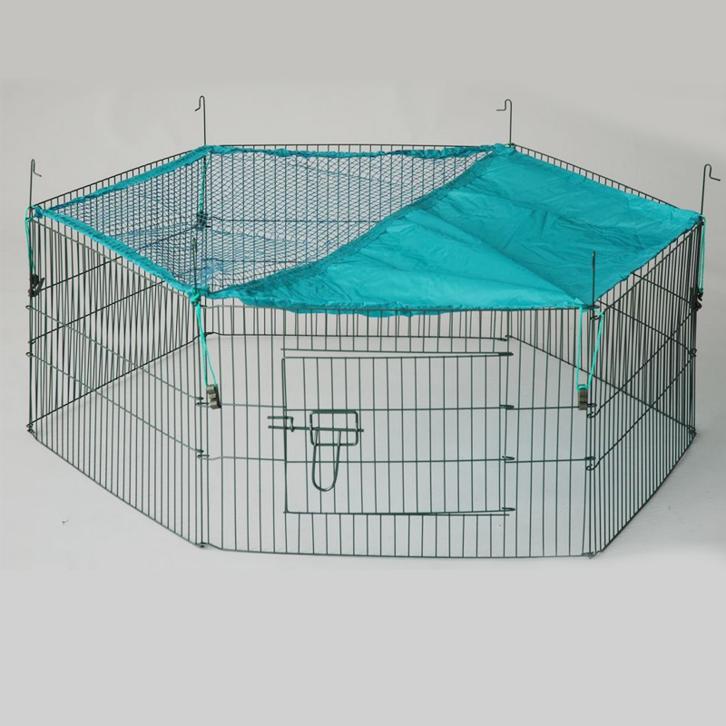 Folding Wire Rabbit Enclosure Pet Fence Rabbit Cage - Buy Folding ...
