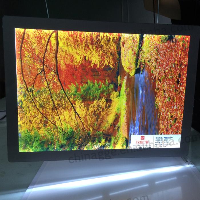 Acrylic Box To Hang On Wall : Dc v led edge light cable wire hanging display crystal