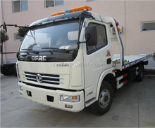 Good performance Dongfeng Wrecker Tow truck 6 ton Emergency Towing flatbed Truck Recovery Truck Bed Side