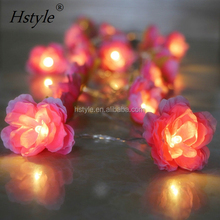 Battery Operated Camellia String Lights LED Flower Fairy Light HNL211