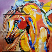 Hand Painted Abstract Horse Painting for Wholesale