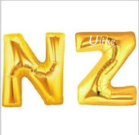 2014 hot selling letter shaped foil balloons inflatable letter foil balloons baby shower favors