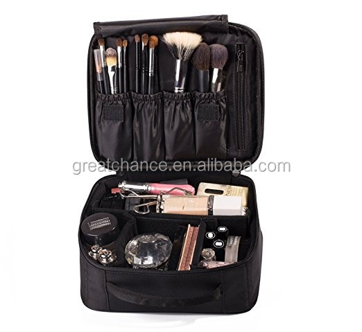 Professional Beauty Train Case cosmetic Make Up Artist Organizer box Kit Large size With Adjustable Dividers