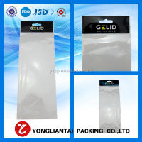 clear opp plastic sleeves for cards/opp header bag/gifts bag made in China