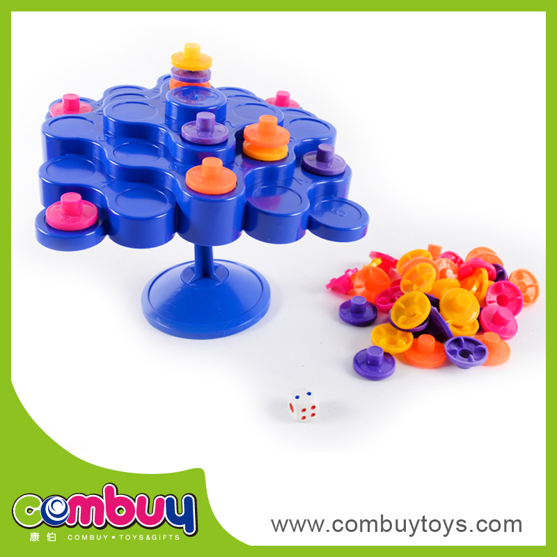 Interesting family game topple toy balance toy