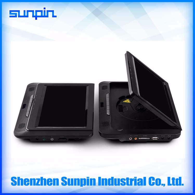 New Portable Design 9 Inch Headrest Car DVD Player support DVD//VCD/ MP3/MP4//JPEG Formats
